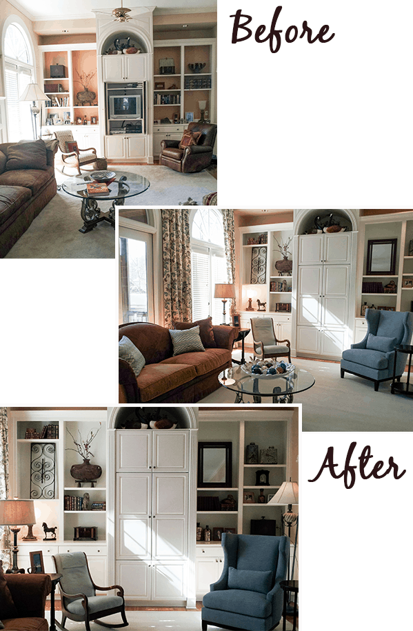 Before and After: Family Room design project