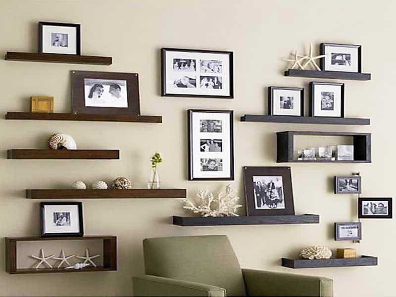 Creating your own family gallery aht interiors - Great floating shelf ideas for your home ...