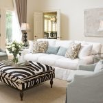 Slip covered living room furniture for home with pets