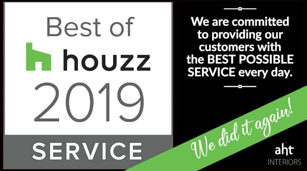 AHT Interiors named Best in Service 2019 for Houzz