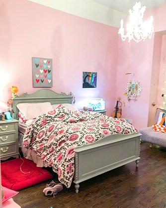 Teen bedroom suite makeover - before