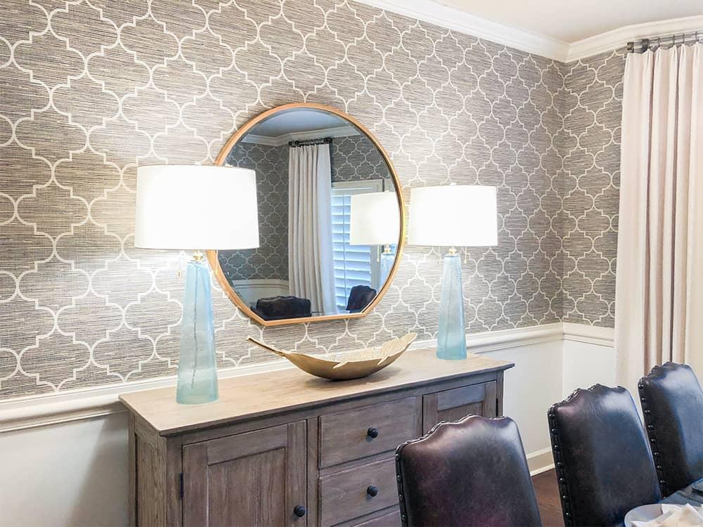 New Dining Room Wallpaper Aht Interiors, Wallpaper For Dining Room Wall