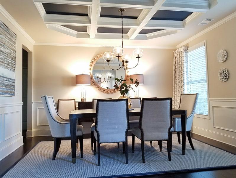 Interior design using navy blue