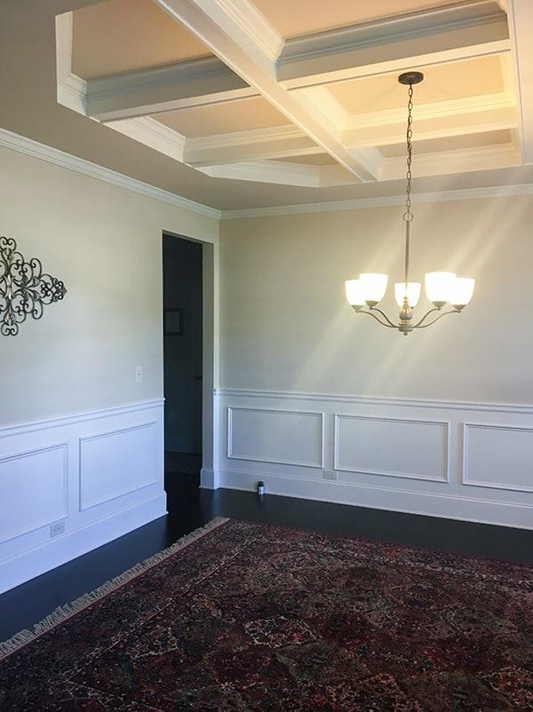 Interior design using navy blue - before