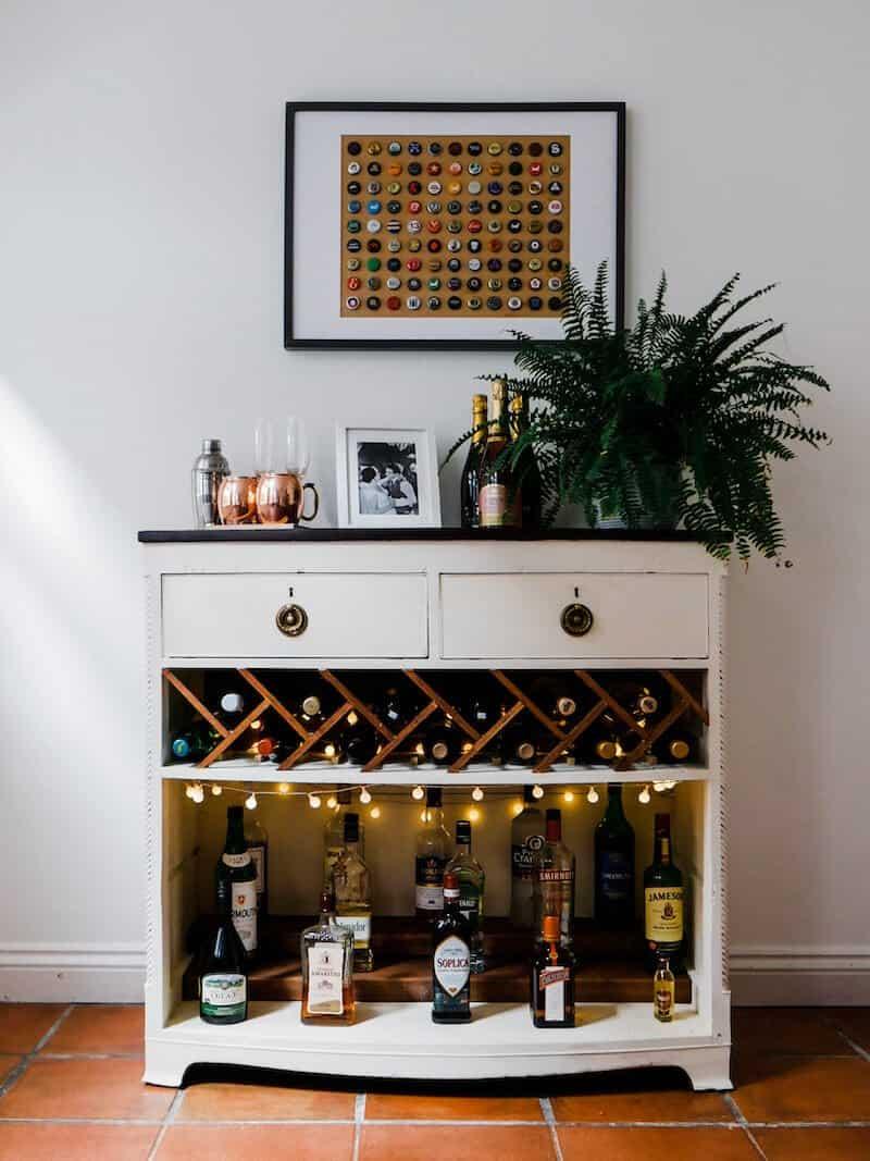 DIY Bar Cabinet by Hannah Drake - click to visit!