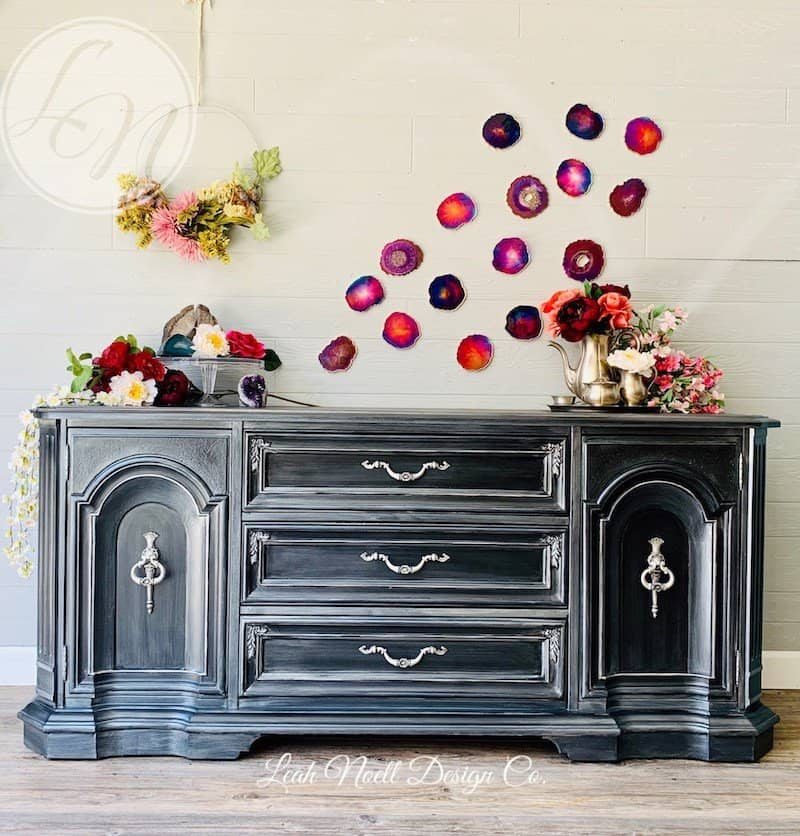 Buffet Table Makeover by Leah Noell - click to visit!