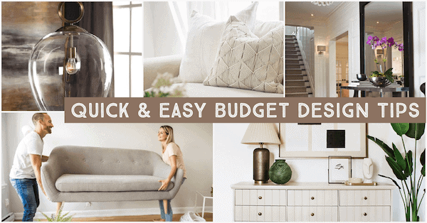 Quick and Easy Budget-Friendly Design Tips