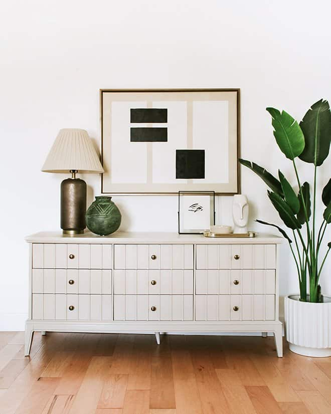 A dresser is given new life with paint