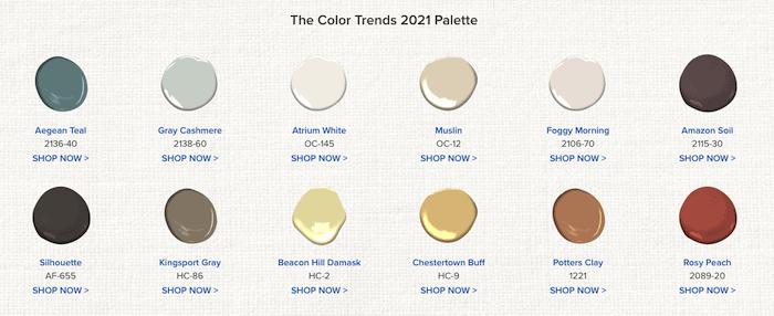 Benjamin Moore Color of the Year Aegean Teal